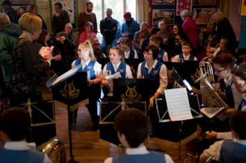The Brass band had everyone singing and joining in.